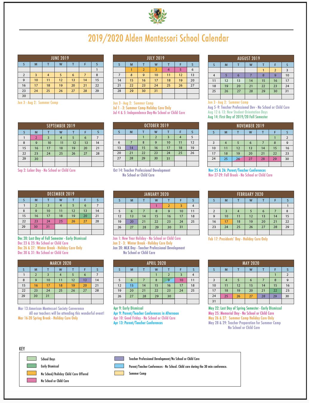 alden calendar 2019:20